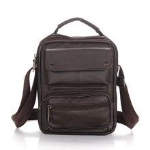 2016 Business Men Genuine Brand Leather Bag Natural Cowskin Men Messenger Bags Vintage Men's Cowhide Shoulder Crossbody Bag все цены