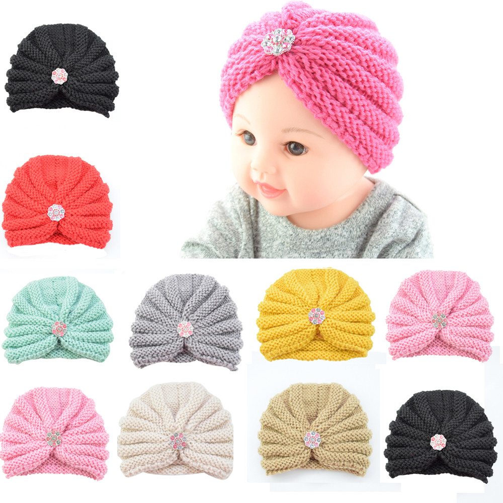 Cute 2018 New Arrival  Casual Fashion Cartoon Baby Toddler Girls Boys Infant Warm Winter Knit Beanie Hat Crochet Ski Ball Cap