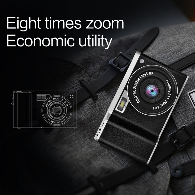 4.0 inches Digital Camera Home 24 Million Pixel Wide Angle HD IPS Touch Screen DSLR Camera Birthday Best Gift