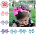 2pcs 4inch Newborn Baby Hair Weave Bowknot Elasticity Band Girls Bow Headband Infant Hair Accessories Toddler Hairband 621