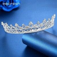 Mecresh Planta Crystal Europea Gorgeous Rhinestone Nupcial Tiara de La Corona Pelo de La Boda Accesorios de La Joyería de Regalo de Navidad HG003