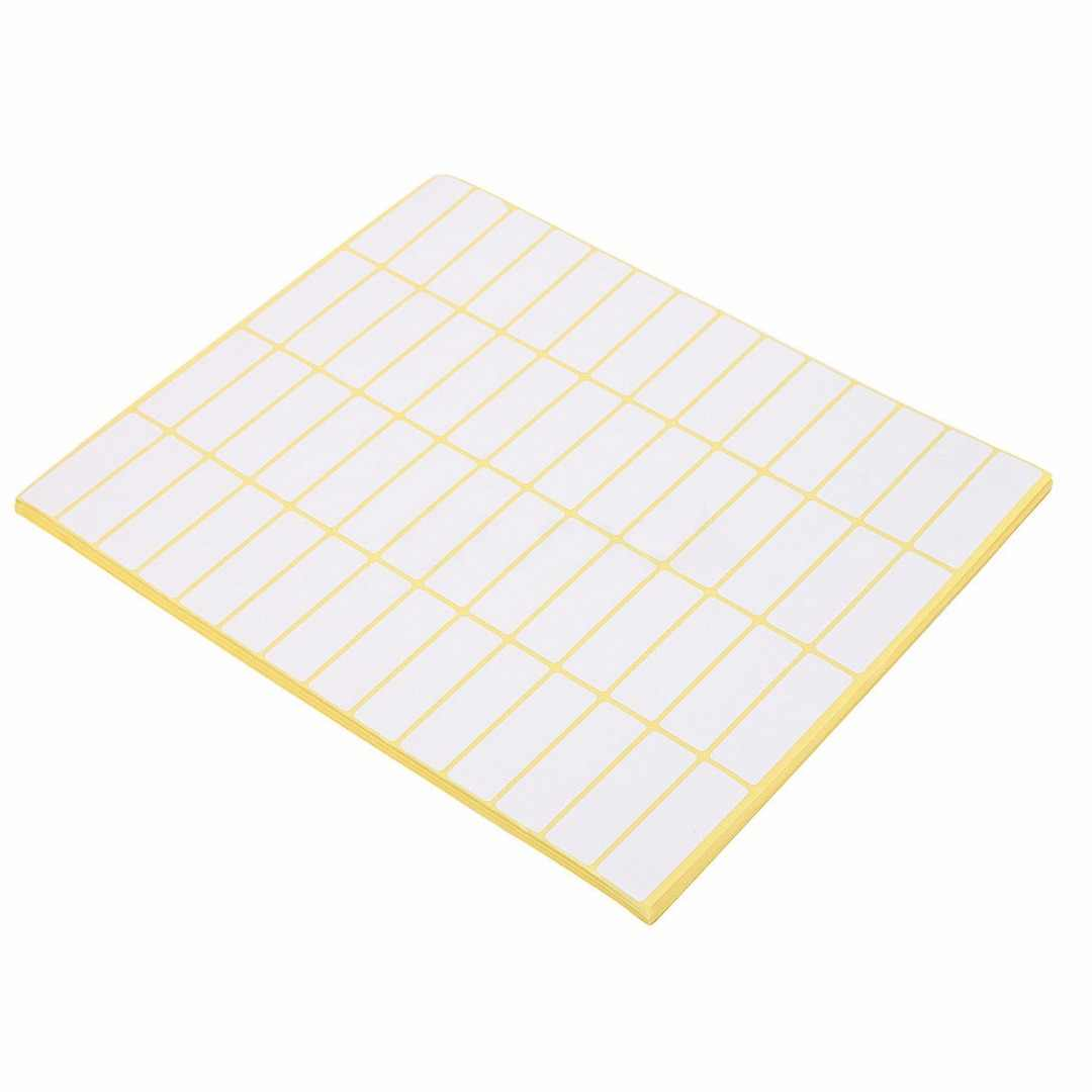 15 Sheets Price Sticky Labels 840 Stickers Tags Self Adhesive Blank Labels  White Matte Sticker Paper 13*38mm