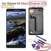 100%test 6.44LCD Display For XIAOMI MI MAX 2 LCD Touch Screen for Max2 Mi Max 2 LCD Digitizer with Frame Replacement Parts