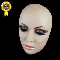 SH 6 female mask cross dressing Halloween full head mask Beauty Silicone Dressing props Party Mask Non toxic Factory without wig