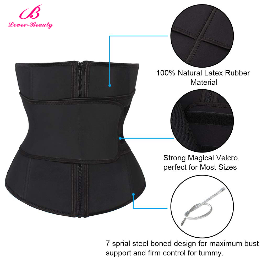 0e6c283138d Lover Beauty Abdominal Belt High Compression Zipper Plus Size Latex Waist  Cincher Corset Underbust Body Sweat Waist Trainer C-in Waist Cinchers from  ...