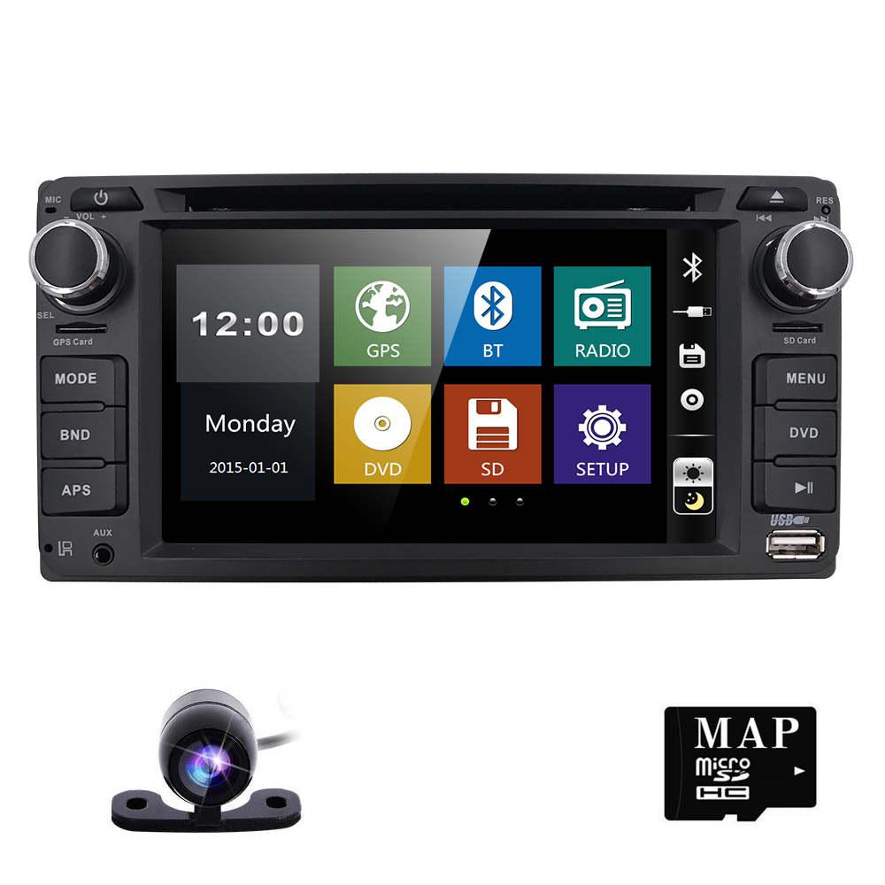 Hizpo GPS Navigation 6.2 Inch 2 din car radio gps Car DVD Player For Toyota/Corolla Old Series Bluetooth GPS Radio SWC rear cam joyous j 8619mx 6 2 toyota double din car radio dvd player w gps bluetooth aux