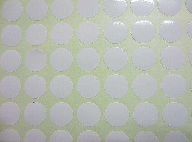 5 sheets plain white dot sticker coding labels blank self adhesive round code tag