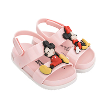 2019 New Mini Melissa Jelly shoes Mickey  Girl Sandals Kids Shoes Beach For Girls