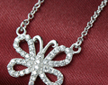 925 collar de plata clavícula joyería de mariposa collar pendiente (NM/NS)