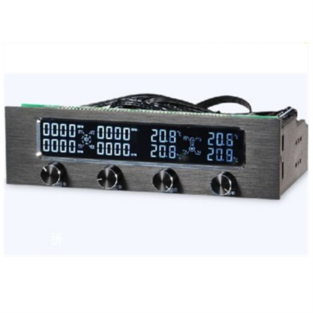 High Quality 5.25 LCD Panel Fan Speed Temperature Controller Governor PC Hardware Protector Drop Shipping 10 50v 100a 5000w reversible dc motor speed controller pwm control soft start high quality