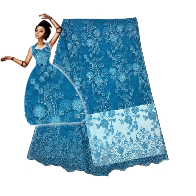PROMOTION!!!5yards/lot 2017 High quality nigerian french lace african lace fabric for party dress FC1628-TFO ,Africa lace fabric