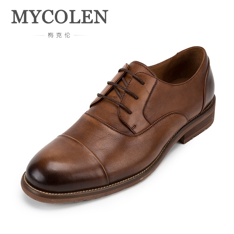 MYCOLEN New Arrival Formal Derby Man Dress Shoes Luxury Designers Male Leather Handmade Luxury Brand Men'S Zapatos Hombres