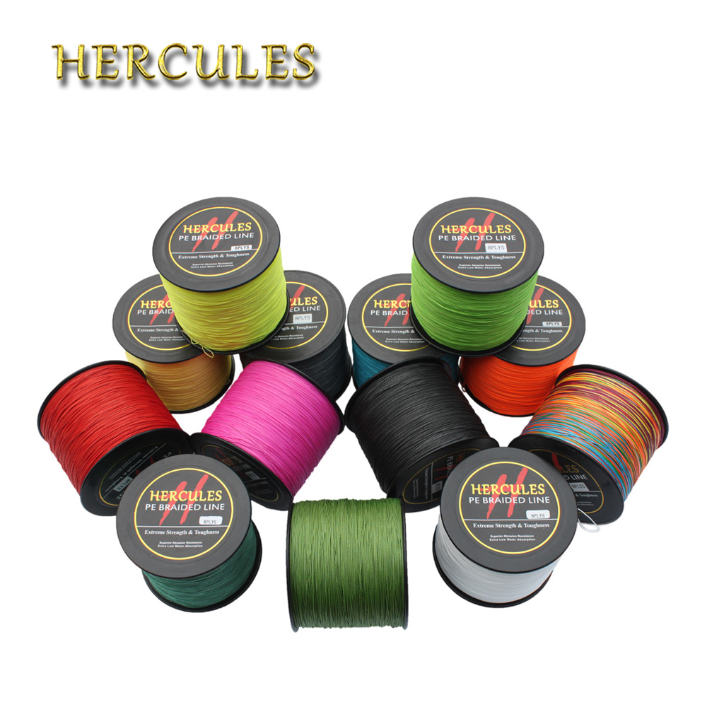 Hercules 180LB 1000M Fishing PE Braided Fishing Line Tresse Peche 8 Strands Saltwater Carp Fishing Line Cord Materiel 13 Color цена и фото
