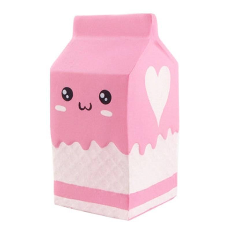 Squeeze Toys Simulation Cute Fairytale Slow Rebound  PU Yogurt Box Toy Squishy Authentic Soft Pink Cartoon Expression