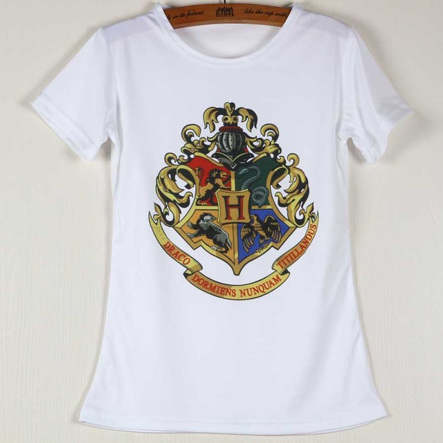 0eb91e2d14c Plus Size Latest Fashion Hogwarts Womens Tee Shirts Short Sleeve White  Round Neck Tops