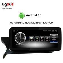 Ugode Car Multimedia Player Radio 10.25 Inches Autoradio Screen Monitor W204 C Class GPS Navigation Bluetooth For Benz C цена в Москве и Питере