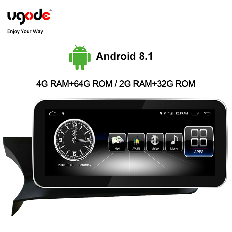 Ugode Car Multimedia Player Radio 10.25 Inches <font><b>Autoradio</b></font> Screen Monitor <font><b>W204</b></font> C Class GPS Navigation Bluetooth For Benz C image