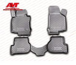 Коврики для Volkswagen Golf VI 2009-4 шт. резиновые коврики Нескользящие резиновые интерьерные аксессуары для автомобиля
