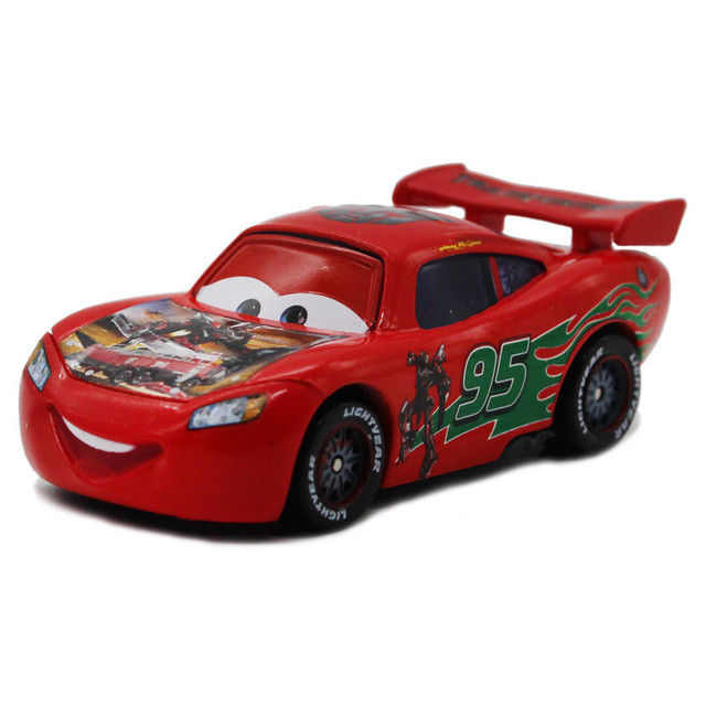 "Pixar Cars  Red No.95 ""Sentinel Prime Maikun ""Transformers SerisMacqueen Diecast Racing Car Alloy Metal Toy Model 1:55"