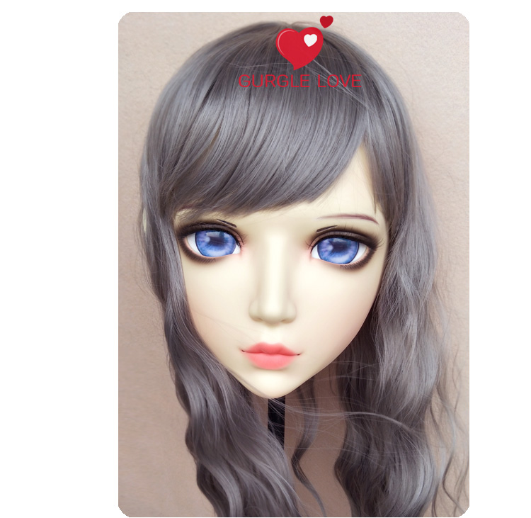 Costumes & Accessories Sweet Girl Resin Half Head Bjd Kigurumi Mask With Eyes Cosplay Anime Role Lolita Mask Crossdress Doll To Be Highly Praised And Appreciated By The Consuming Public Boys Costume Accessories gl086
