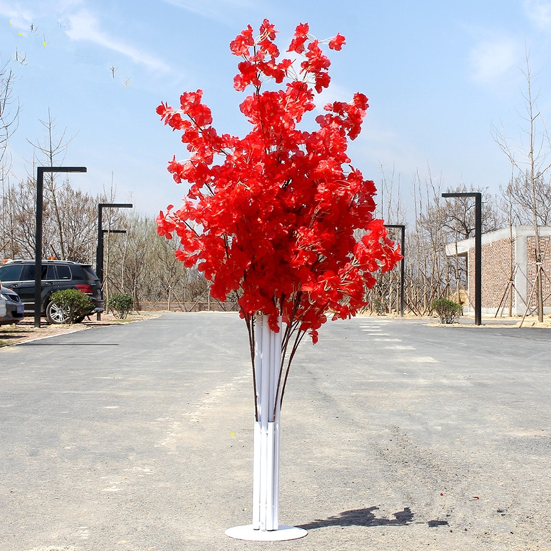1 5 m Artificial Wedding Cherry Road Props Iron Sakura Arch Road Citation Shelf Wedding Background Decor prop party decoration in Party DIY Decorations from Home Garden