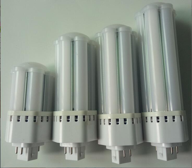 Бесплатная Доставка 10 Вт 12 Вт 16 Вт 20 Вт plc лампа LED 4-контакт База cfl/компактные люминесцентные замена лампы 360 Угол луча светодиодные pl встраив...