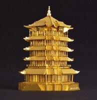 DIY 3D Metal Models juguetes educativos Models/Assemble Miniature Metallic Nano Puzzle Chinese ancient architecture