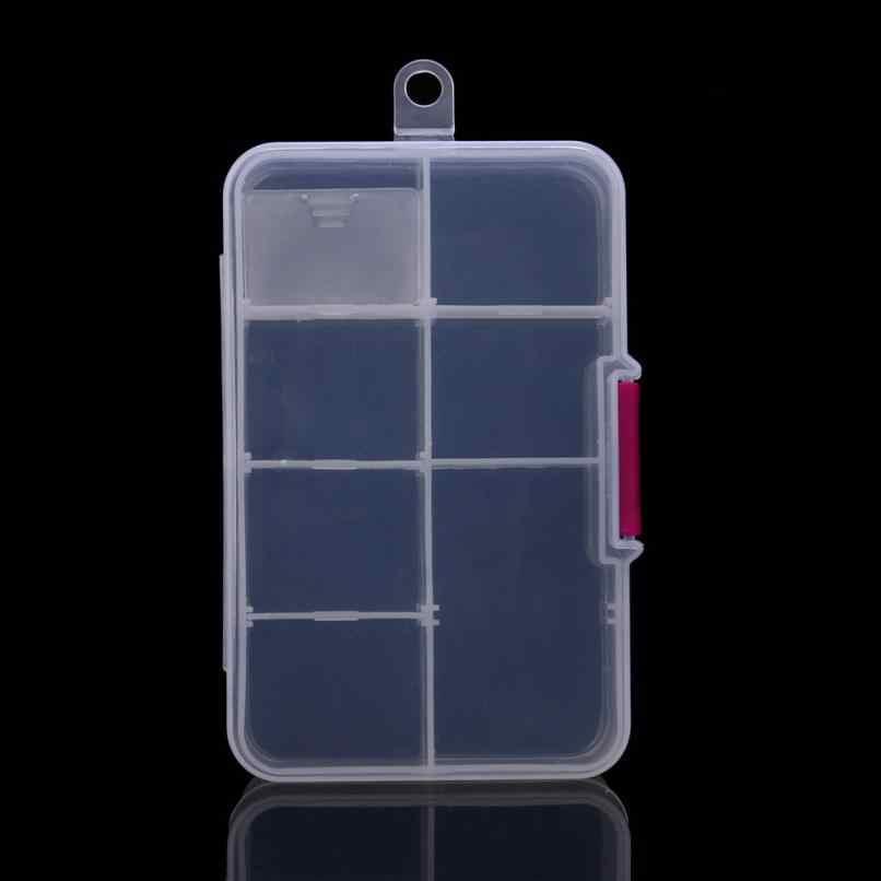 プラスチック 8 グリッドコンパートメント調整可能なジュエリーネックレス透明収納ボックスケースホルダークラフトオーガナイザーコンテナ収納