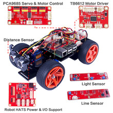 SunFounder PiCar-V for Raspberry Pi 3/2/B+ Remote Control by APP on Windows/Mac and Web Browser Electronic Toy with Detail Manua
