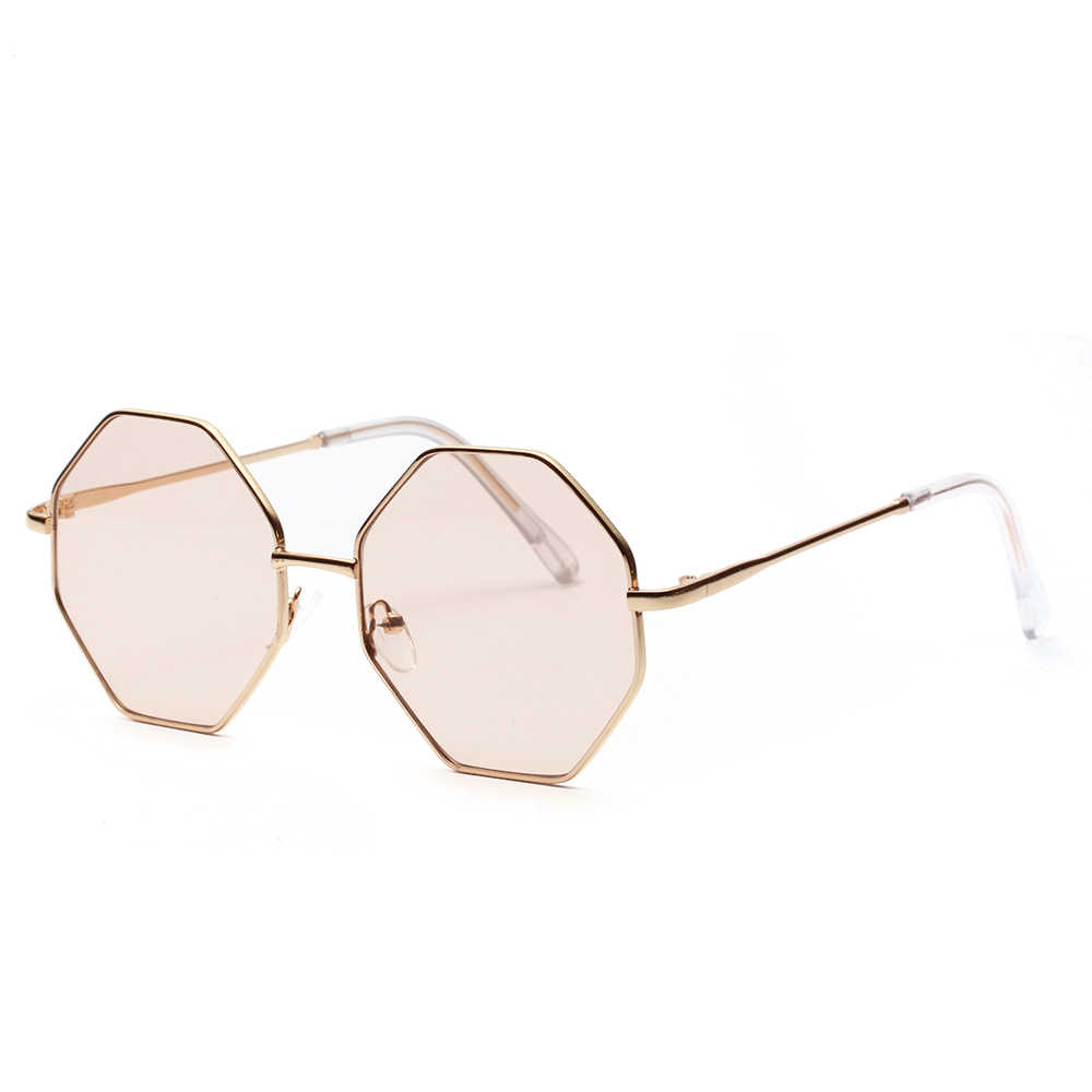ab43ba72c2de ... Kachawoo oversized vintage female sunglasses polygon metal frame  octagonal glasses for sun women summer accessories ...