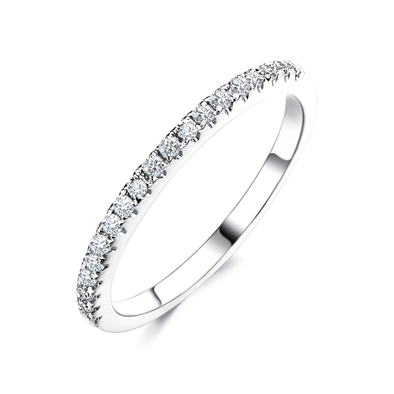 CHEESTAR JEWELS New arrival fashion wedding band 925 sterling silver ring 1.3mm cubic zirconia stone engagement ring