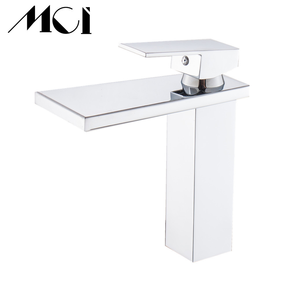 Wholesale And Retail Deck Mount Waterfall Bathroom Faucet Vanity Vessel Sinks Mixer Tap Cold And Hot Water Tap Torneira MciWholesale And Retail Deck Mount Waterfall Bathroom Faucet Vanity Vessel Sinks Mixer Tap Cold And Hot Water Tap Torneira Mci