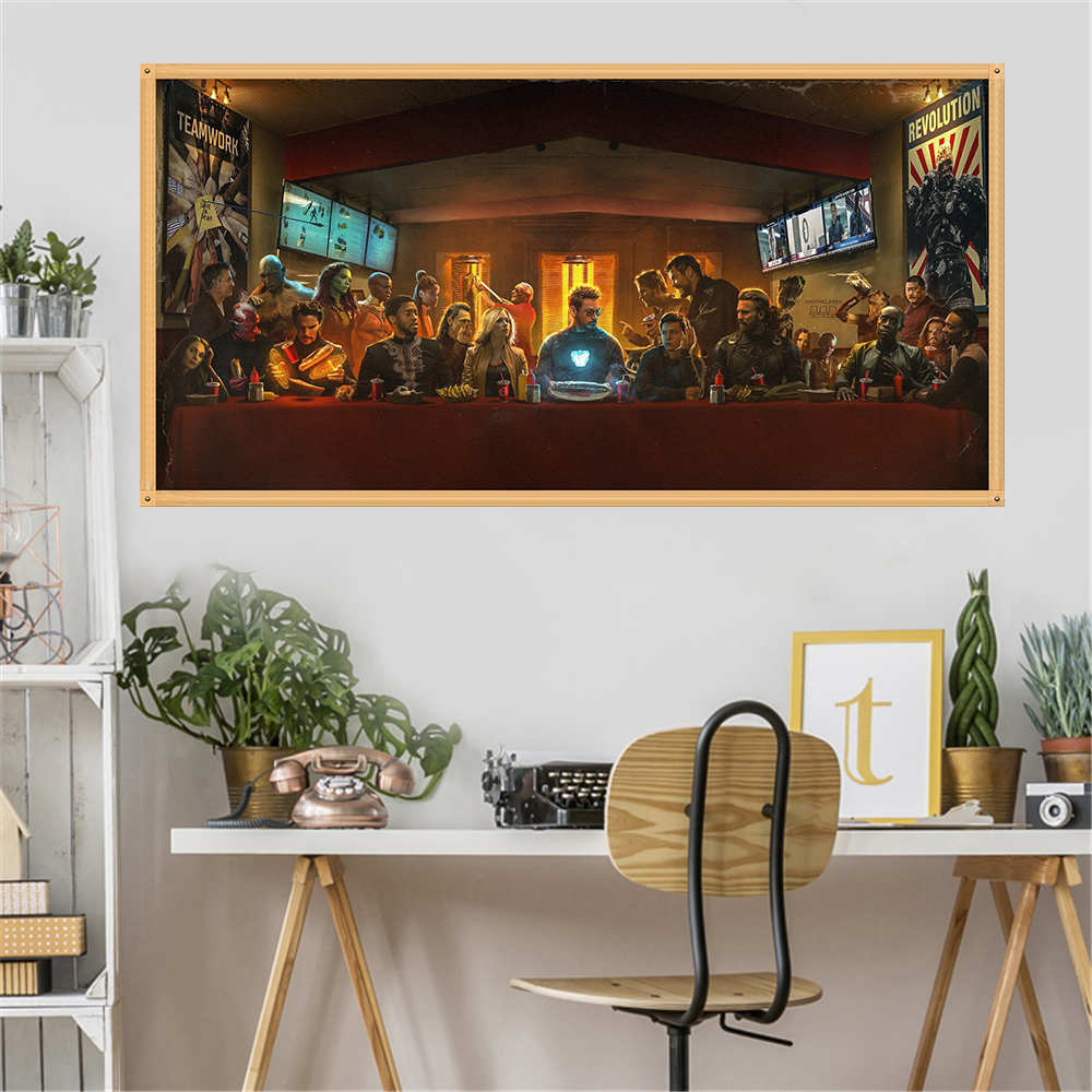 Avengers Poster Movie Canvas Big Home Decoration Marvel Comics Iron Man Cartoon Painting Wall Art Picture For Living Room Decor