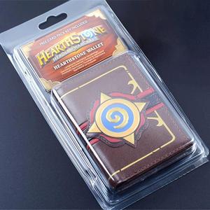 Image 2 - Hearstone carteira com três dobras, carteira curta em couro com gravura em heróis de warcraft hearstone