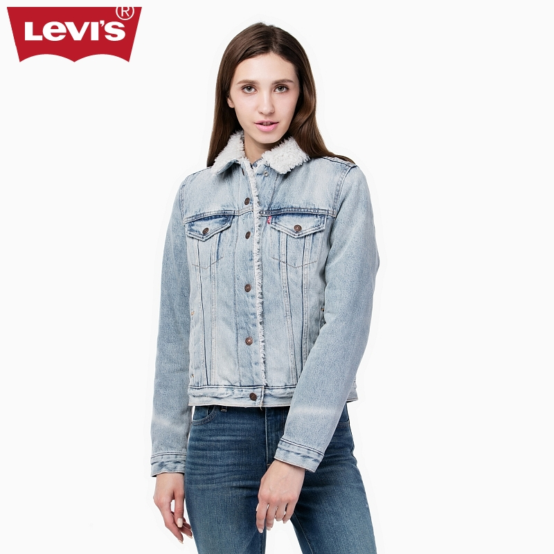 Levi 's Lady' s Brush Coat Jacket Jacket 28344-0003 топ levi s®