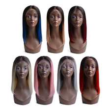 13x4 Lace Front Human Hair Wigs For Black Women Brazilian Remy Hair Ombre Short Human Hair Bob Wigs With Baby Hair(China)