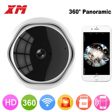 XM 360 Degree Panoramic Fish Eye 1080P IP Camera Multi-purpose Wifi Night Veresion kamera APP Remote Control Wireless P2P IP Web