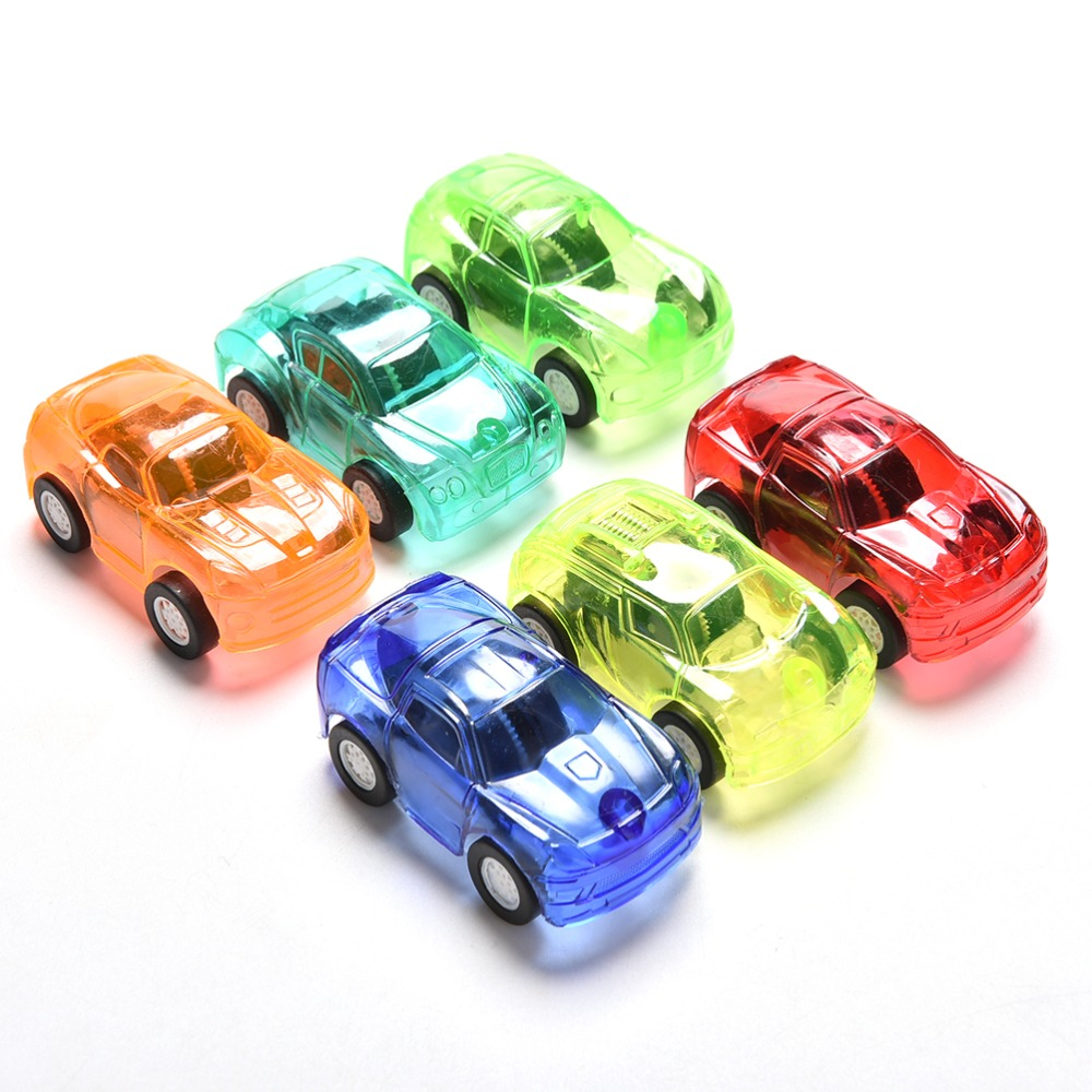 Pull Back Car Candy Color Plastic Cute Toy Cars For Child Mini Car Model Kids Toys For Boys