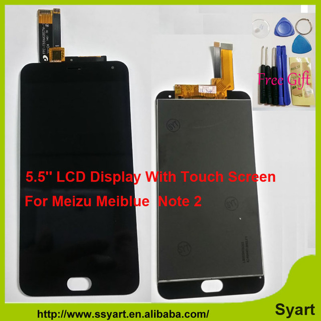 1920x1080 FHD 5.5 polegada 100% New Reparação LCD meiblue nota 2 assembléia display lcd touch screen digitador para meizu meiblue m2 note