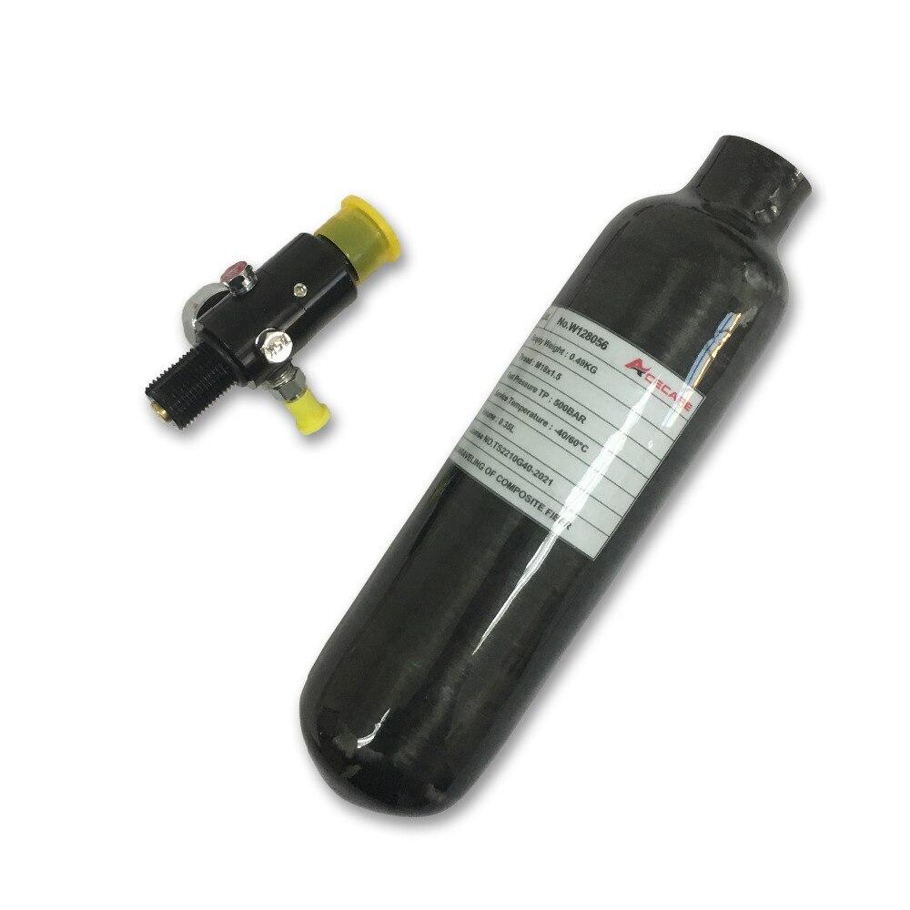 2018 Paintball Nuovo 0.35L 300bar 4500psi Bombola di Gas In Fibra di Carbonio della Bottiglia di Pcp Airrifle Serbatoio con Regolatore di Trasporto di Goccia
