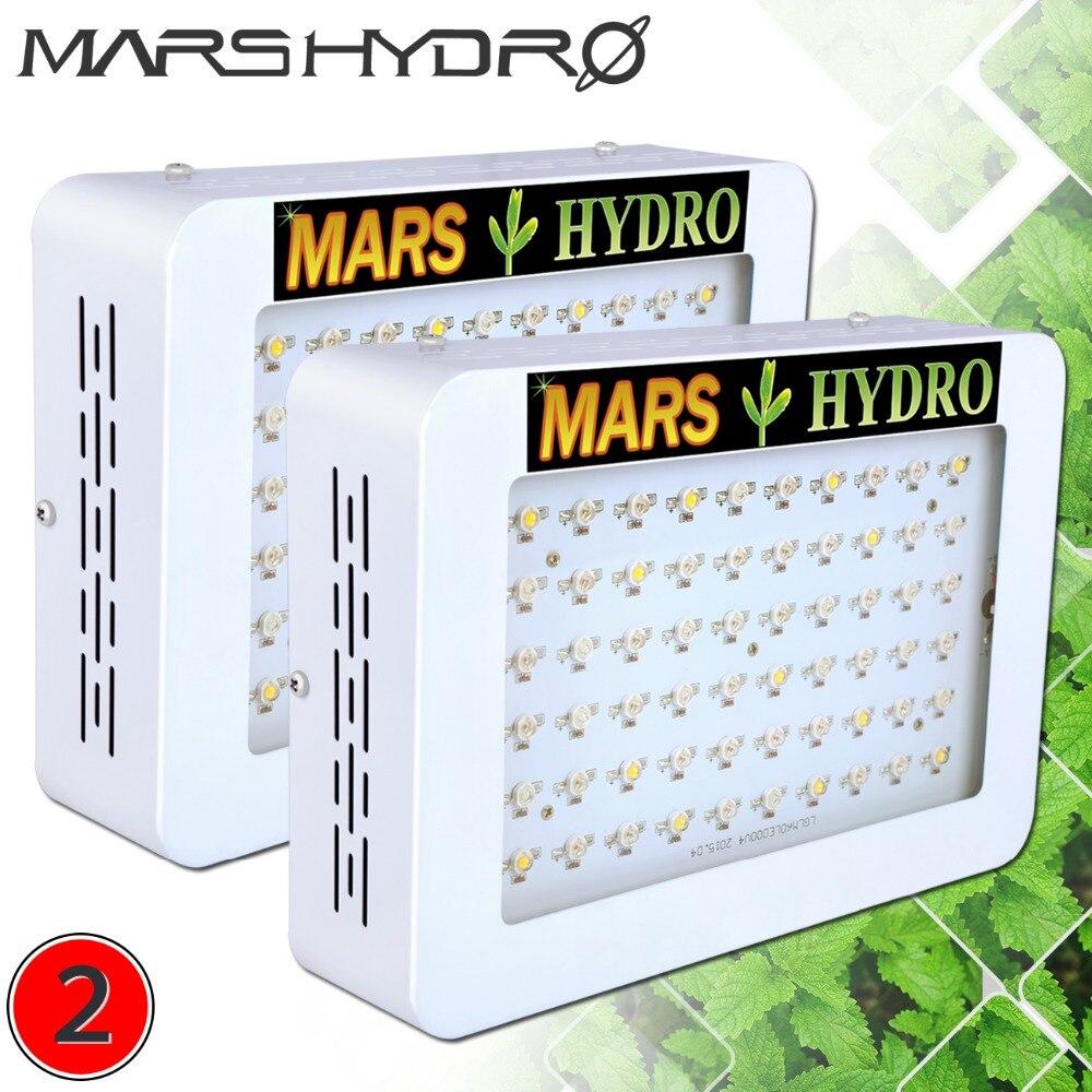 2 pcs Mars 300 Plein Spectre MENÉ Élèvent des Lumières pour Médical Plantes D'intérieur Hydro Jardin À Effet de Serre Herbes
