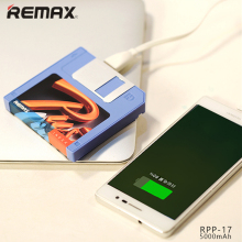 Original Remax RPP-17 5000mAh Powerbank Mini Disk Batteria Esterna Portable Mobile Phone Camera Charger Power Bank for iPhone 5