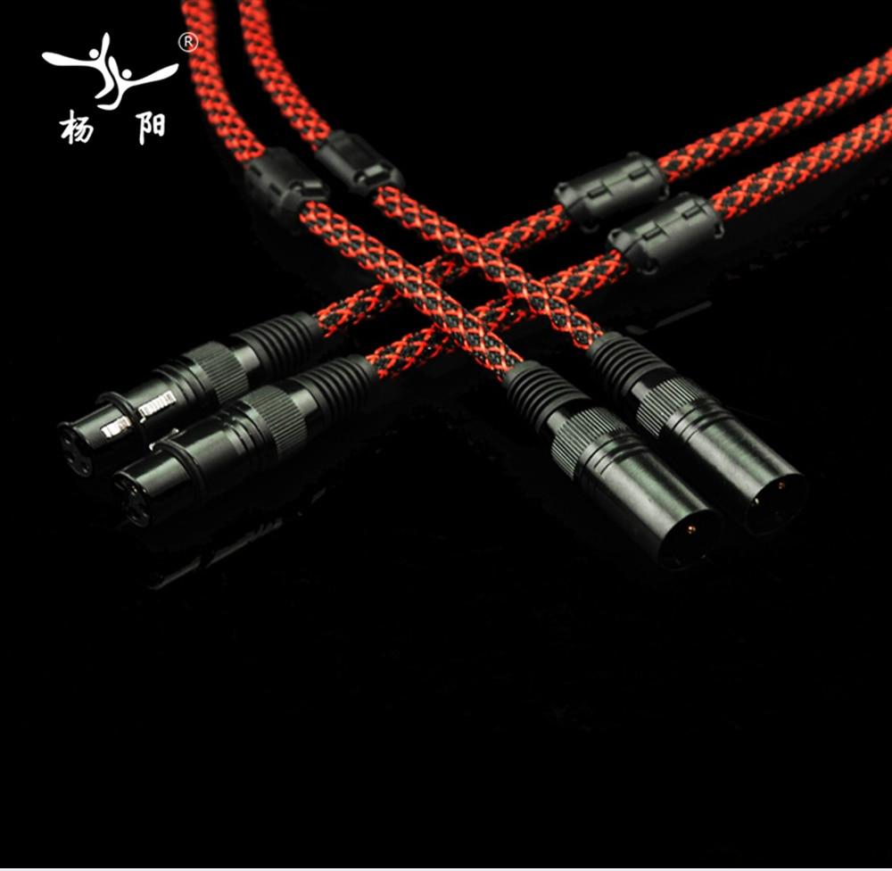 YYAUDIO 1 Pair Hifi 2 XLR Male to Female Balance Audio Cable High performance 3 Pin XLR Connectors Microphone XLR Cable