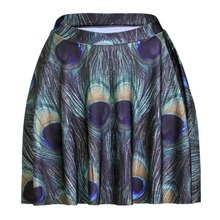 Buy Peacock Feather Print Skirt And Get Free Shipping On Aliexpress Com
