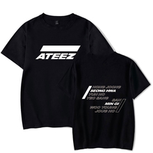 ATEEZ Summer T-shirt 2019 New Korean Team FASHION O-neck Casual New Stylish Plus Size Short Sleeve Round Collar Clothes