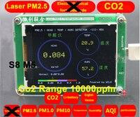 S8 M5 CO2 Сенсор PM2.5 PM1.0 PM10 Co2 детектор PM2.5 пыли Haze лазерной Сенсор с Температура и влажности TFT ЖК дисплей с батареей