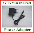 50pcs Universal 5V 1A Mini USB Wall Charger EU Plug for MP3 MP4 Speaker Power Supply Adapter