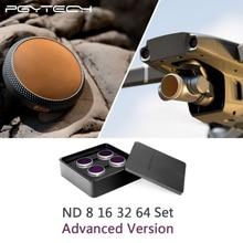 PGYTECH Kit de filtros para Dron, versión avanzada ND8 + 16 + 32 + 64, DJI Mavic 2 Zoom, filtros de objetivo de cámara