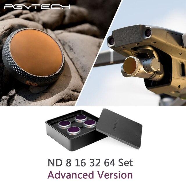 PGYTECH 高度なバージョン ND8 + 16 + 32 + 64 フィルターキット DJI Mavic 2 ズームドローンカメラレンズフィルター
