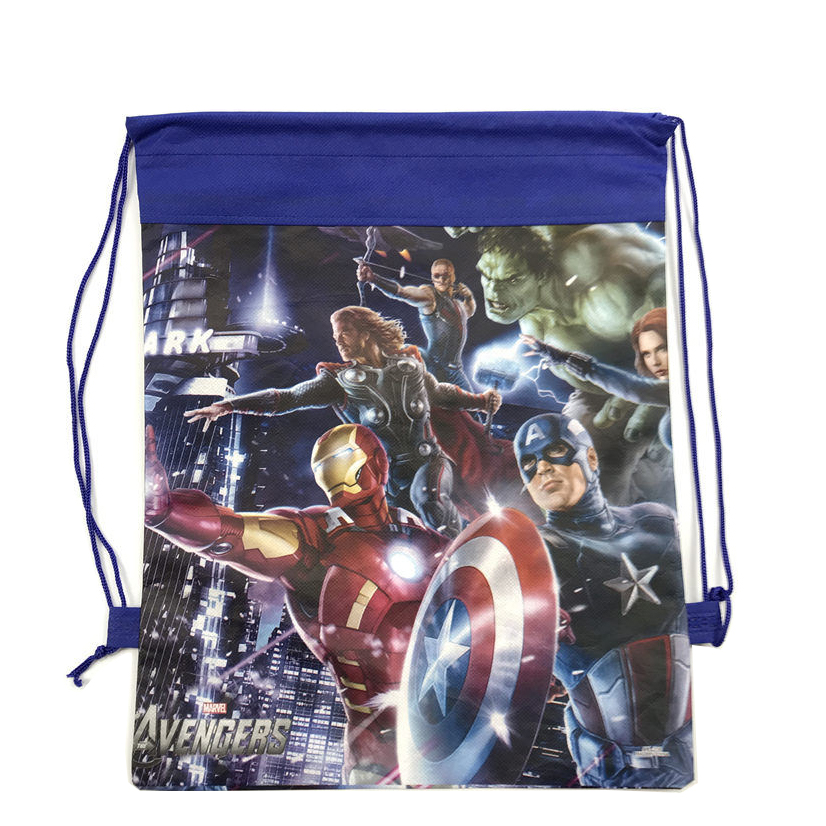 1pc Cartoon Drawstring kid bag for Boy Avengers Spideman Backpack Kids Them Party Favors Gifts in School Bags from Luggage Bags